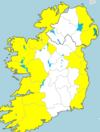 Wind warnings for 14 counties with gusts of up to 110km/h on the way