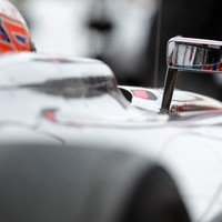 Button fastest at opening practice in Germany