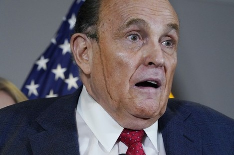 Giuliani's hair dye mishap featured heavily on social media