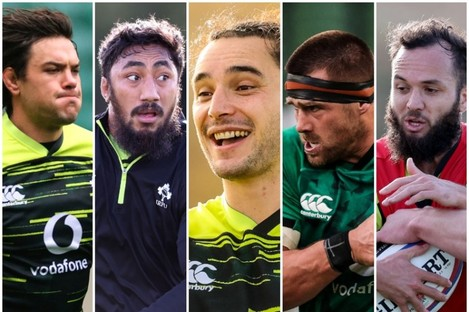 Ireland's XV contains five players who qualify via the residency rule.