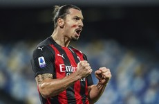 Ibrahimovic scores twice as Milan beat Napoli to stay top