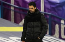 Arteta labels Pepe behaviour 'unacceptable'