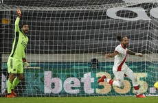 Walcott scores first goal of second stint, but Saints held by Wolves