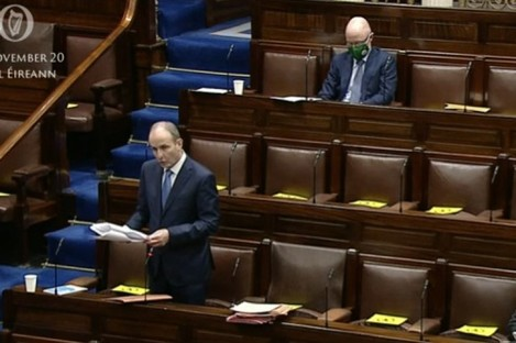 The Dáil is debating how the country should exit Level 5.