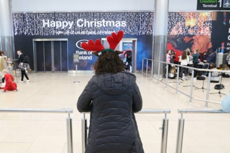 People at Dublin Airport at Christmas last year.