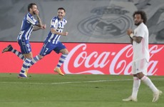 Hazard injury adds to Real Madrid misery in shock defeat, while Atletico join Real Sociedad atop La Liga