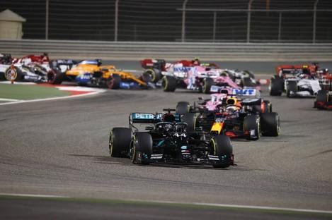 Hamilton celebrated his 11th Grand Prix victory of the season.