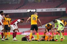 Raul Jimenez head injury overshadows Wolves win at Arsenal