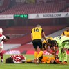 Sickening clash of heads leaves Wolves striker Jimenez with a fractured skull