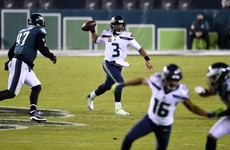 Wilson shines as Seahawks down Eagles