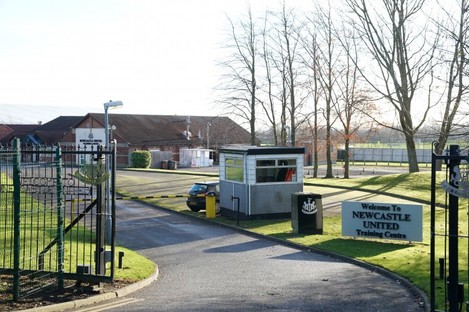 The Magpies' training centre this morning.