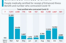 Over 91,000 have received €350 Covid-19 Illness Benefit weekly payment so far, with big drop in November