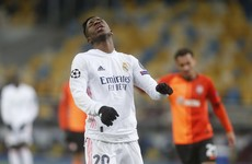 Real Madrid lose again to Shakhtar, leaving Champions League hopes on the brink