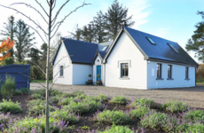 Lodge-style home on six acres in Mayo with an organic vegetable garden