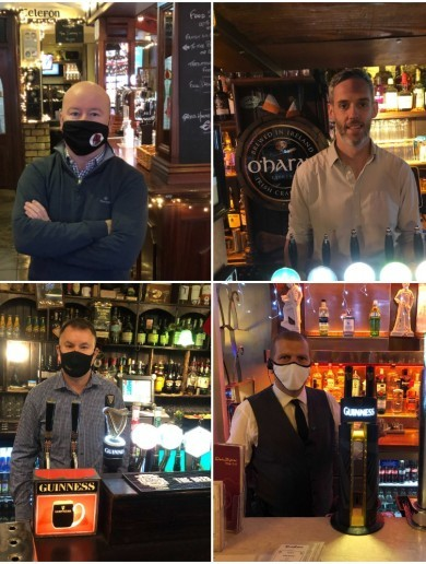 On a cold, wet day in Dublin pubs re-opened for Christmas - and we went to visit them