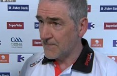 VIDEO: Mickey Harte rues red card but magnanimous after defeat in Killarney
