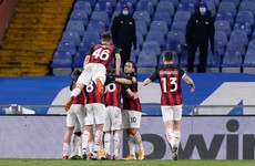 Milan battle past Sampdoria to maintain five-point lead atop Serie A
