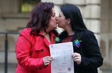 First same-sex couples in civil partnerships marry in Northern Ireland