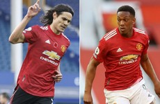 Manchester United without Edinson Cavani and Anthony Martial for Leipzig clash