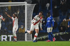 Saints march into fifth place with comeback win over Brighton