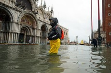 Venice square under water as complex dam system fails to activate