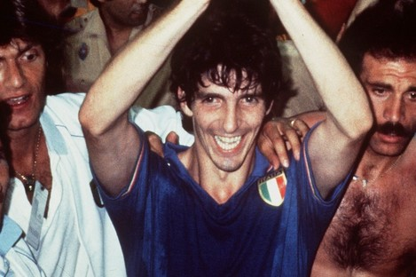 Paolo Rossi lifts the World Cup in 1982