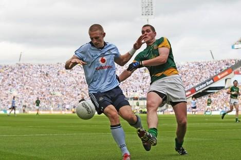 Eoghan O'Gara in action for Dublin yesterday.