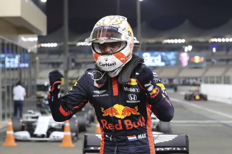 Verstappen celebrates in Abu Dhabi.