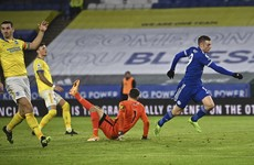 Vardy scores on record-equalling night as Leicester cruise against Brighton