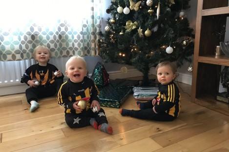 Dalton's kids were wishing their Mammy well from Kilkenny on Saturday.