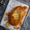 Baked Garlic and Thyme Camembert Loaf