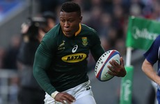 Springboks wing Dyantyi handed four-year doping ban