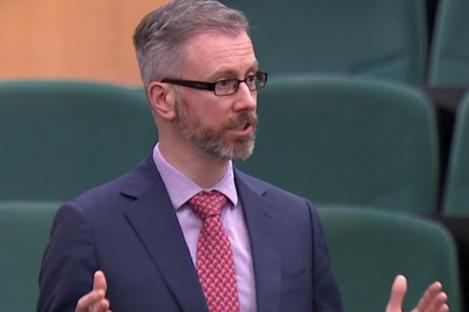 Minister Roderic O'Gorman speaking in the Dáil in December.