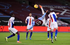 Stunning Haller overhead kick earns West Ham a draw with Palace