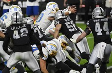 Rookie quarterback sneaks in for game-winning touchdown to inflict blow on Raiders' play-off hopes