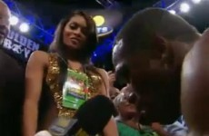 Boxer pulls the old mock proposal trick on live TV and in front of a massive crowd