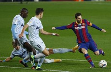 Lionel Messi matches Pele record but struggling Barcelona held by Valencia