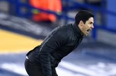 Arteta: Arsenal's run of results 'not acceptable'