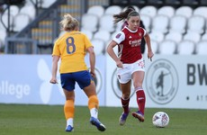 Ireland's Katie McCabe makes 100th appearance in Arsenal win