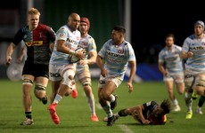 Zebo scores one of seven tries as Racing thrash Harlequins in London