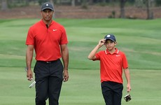Tiger Woods and son finish five behind triumphant Team Thomas in family golf event