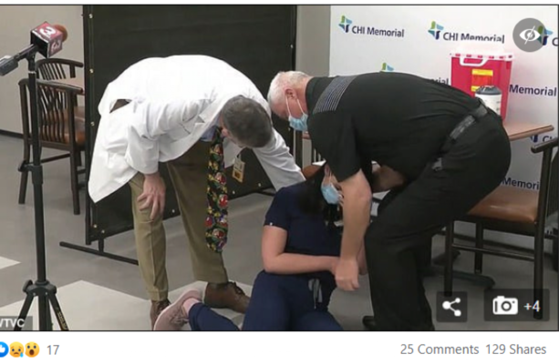 Debunked: No, this US nurse who fainted after her Covid-19 vaccine has not  died