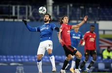 Late Cavani strike sees off Everton as United set up semi-final against City