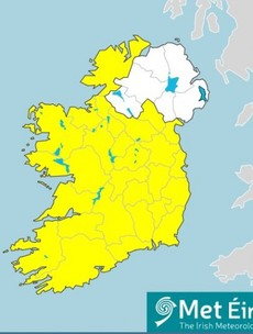 Status Yellow wind and rainfall warning issued for Stephen's Day as Storm Bella approaches