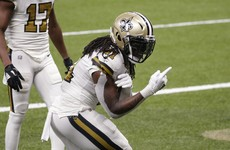 Kamara runs for record-tying six touchdowns as Saints hammer Vikings