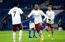 Lacazette comes off the bench to fire Arsenal to victory over Brighton