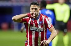 Suarez keeps Atletico atop La Liga as Real Madrid stumble at lowly Elche