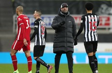 Klopp 'not overly frustrated' after scoreless draw away to Newcastle