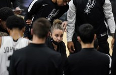 Becky Hammon becomes first woman to lead NBA team as Spurs lose out to Lakers