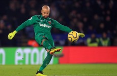 Randolph makes first Premier League appearance in a year for West Ham